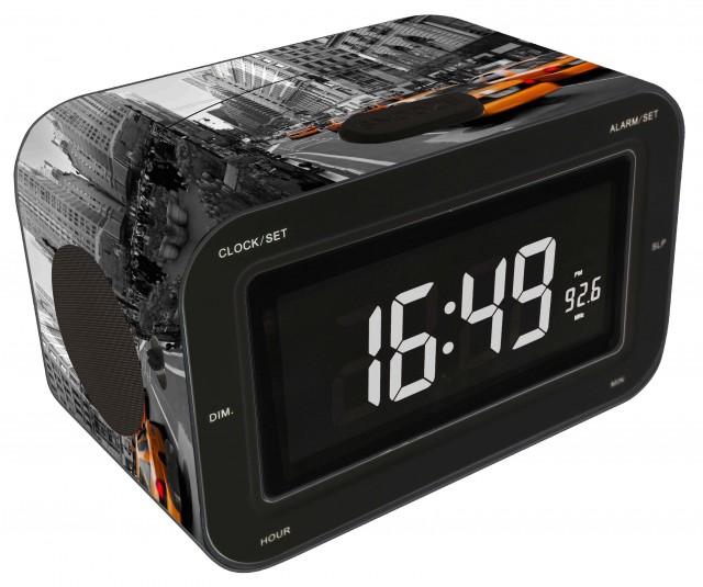 "Radio Alarm Clock ""Yellow Cab"" - Packshot"