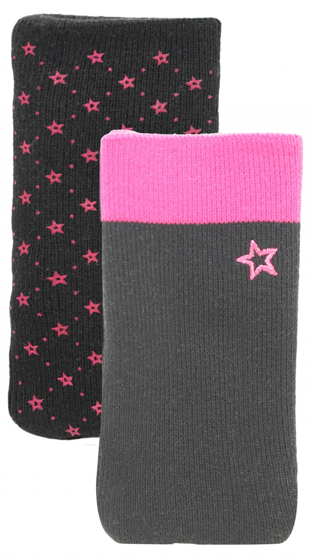 Set of two cotton sock (Black and Pink) - Packshot
