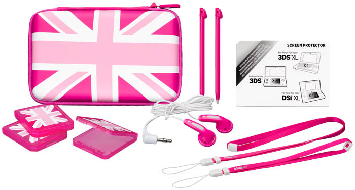 Accessories pack uk girl 3dsxlpack3ukp bigben bigben for Housse nintendo 2ds