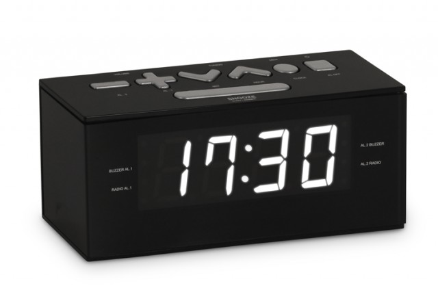 Radio alarm clock (Black) - Packshot