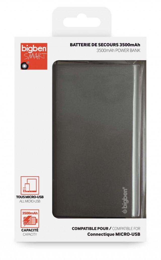 3500 mAh Power Bank (grey) - Packshot