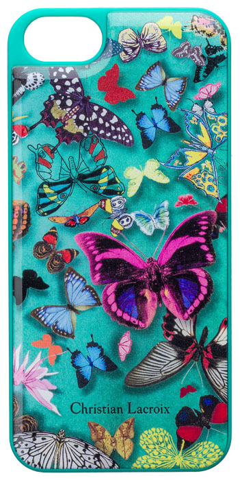 """CHRISTIAN LACROIX Hard case """"Butterfly Parade"""" (Emerald) - Packshot"""