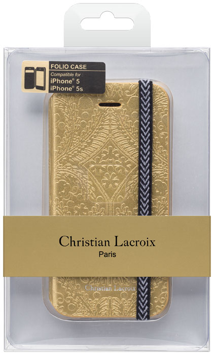 Christian lacroix folio case paseo oro y plata gold bigben en audio - Christian lacroix accessories ...