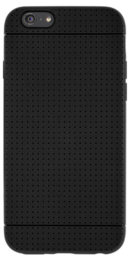 Flexible back cover with micro-perforations (Black) - Packshot