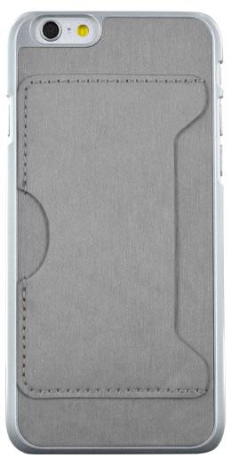 Rigid back cover with card holder (Gray) - Packshot