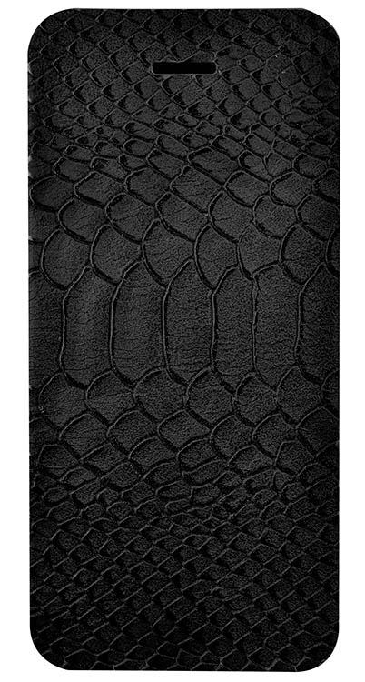 Folio case faux-crocodile (Black) - Packshot