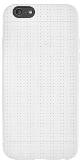 Flexible back cover with micro-perforations (White) - Packshot