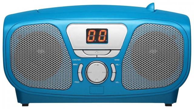 "Radio CD Player ""Kidzy"" Ice Blue (+ Stickers) – Packshot"