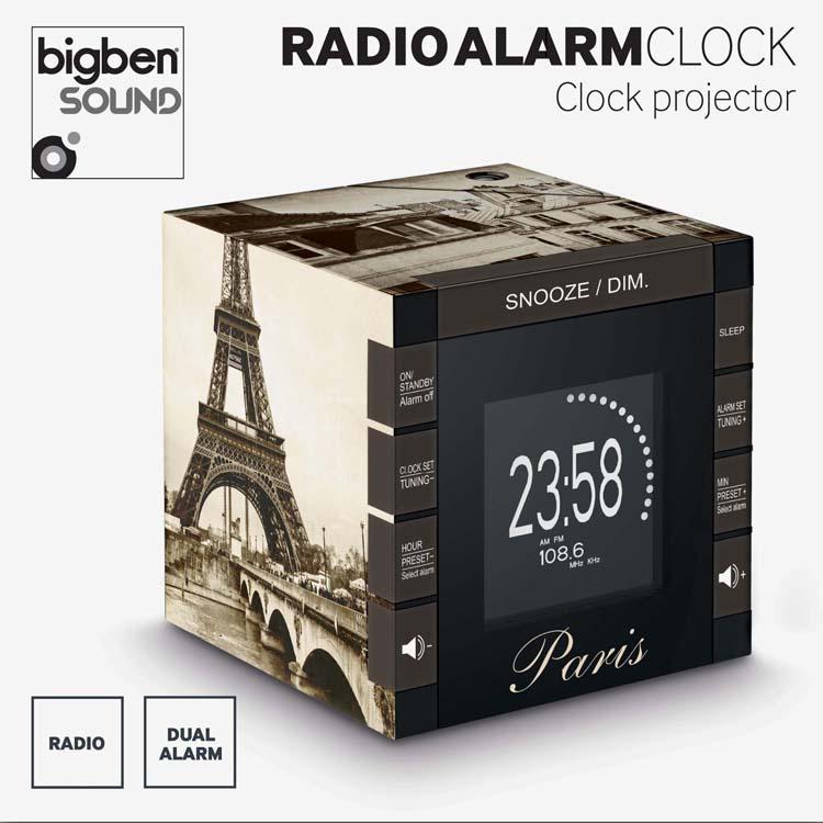 "Alarm Clock Radio Projector ""Paris"" RR70PPARIS BIGBEN ..."
