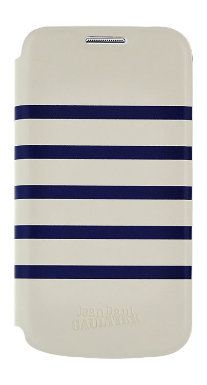 "Jean Paul Gaultier Folio Case ""Marinière"" (Navy and White) - Packshot"
