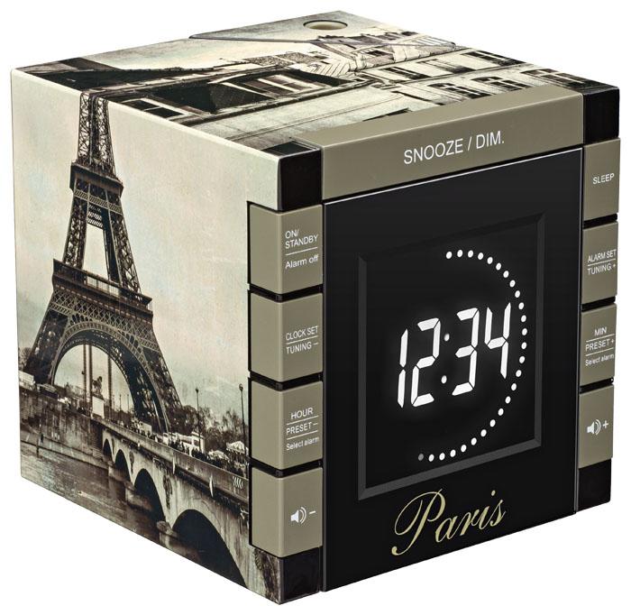 Alarm Clock Radio Projector Paris Rr70pparis Bigben