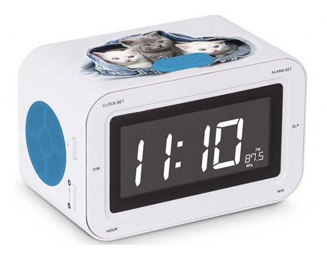 RR30 Clock Radio (Kitties) - Packshot