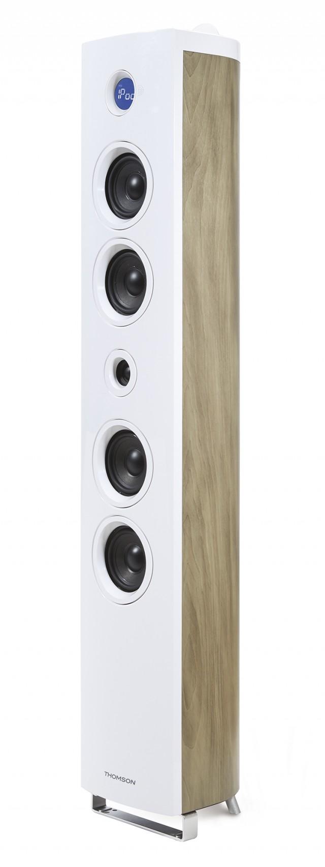 Multimedia Tower 'Wood' (White) - Packshot