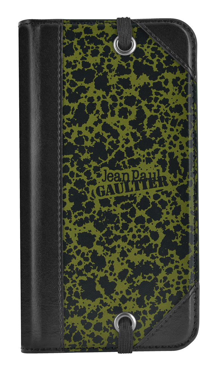 jean paul gaultier folio case carton dessin green bigben en audio gaming smartphone. Black Bedroom Furniture Sets. Home Design Ideas