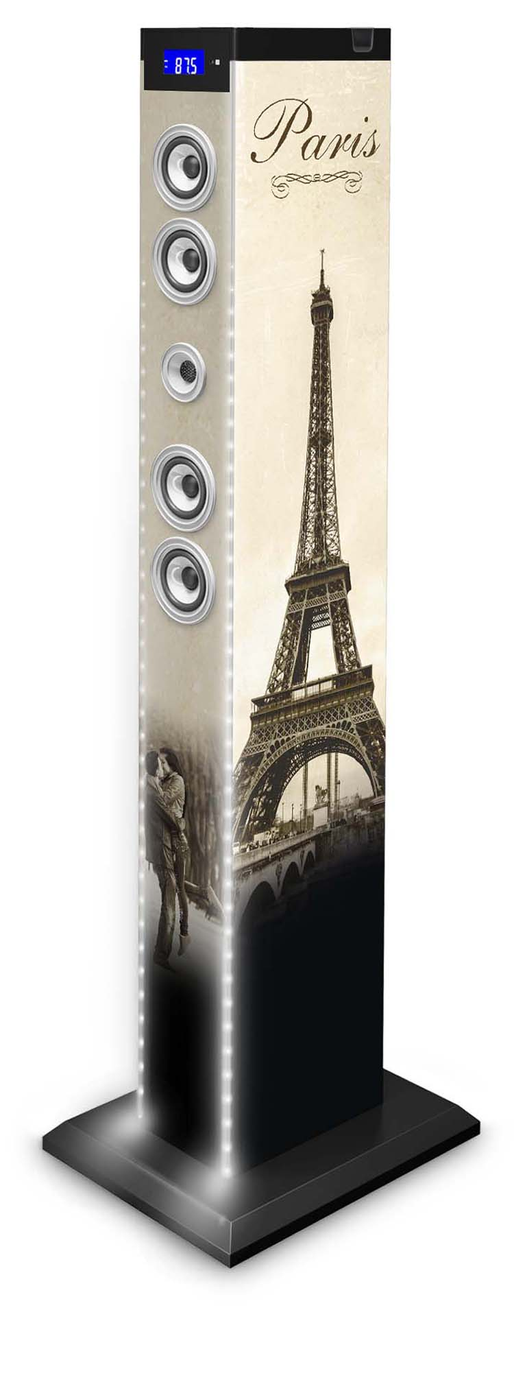 multimedia tower light paris tw9paris2light1 bigben. Black Bedroom Furniture Sets. Home Design Ideas