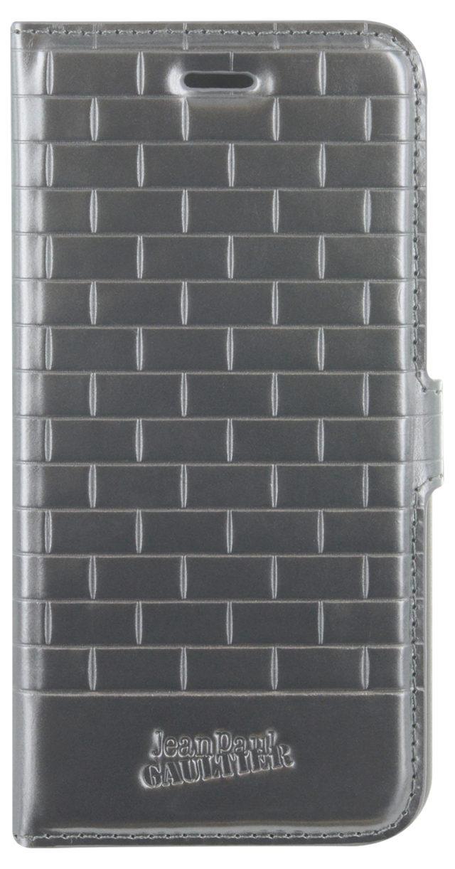 Jean Paul Gaultier folio case metro pattern (silver) - Packshot