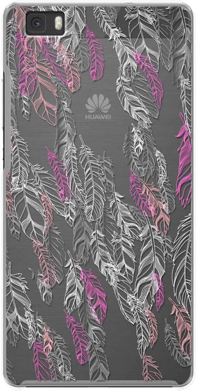 Hard case clear(silver feathers) - Packshot