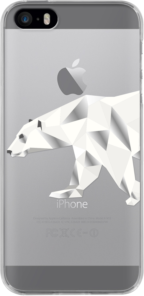 Semi-rigid case clear (polar bear) - Packshot