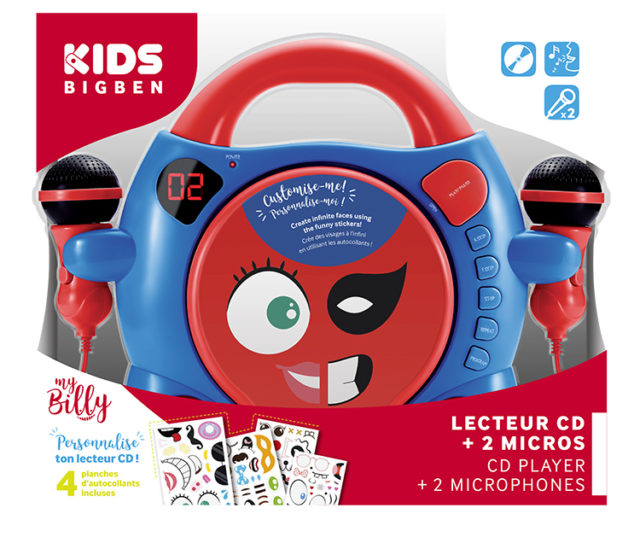 "Customisable CD player with 2 microphones ""My Billy"" – Image  #2tutu#3"