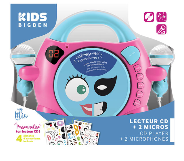 "Customisable CD player with 2 microphones ""My Mia"" – Image  #2tutu"