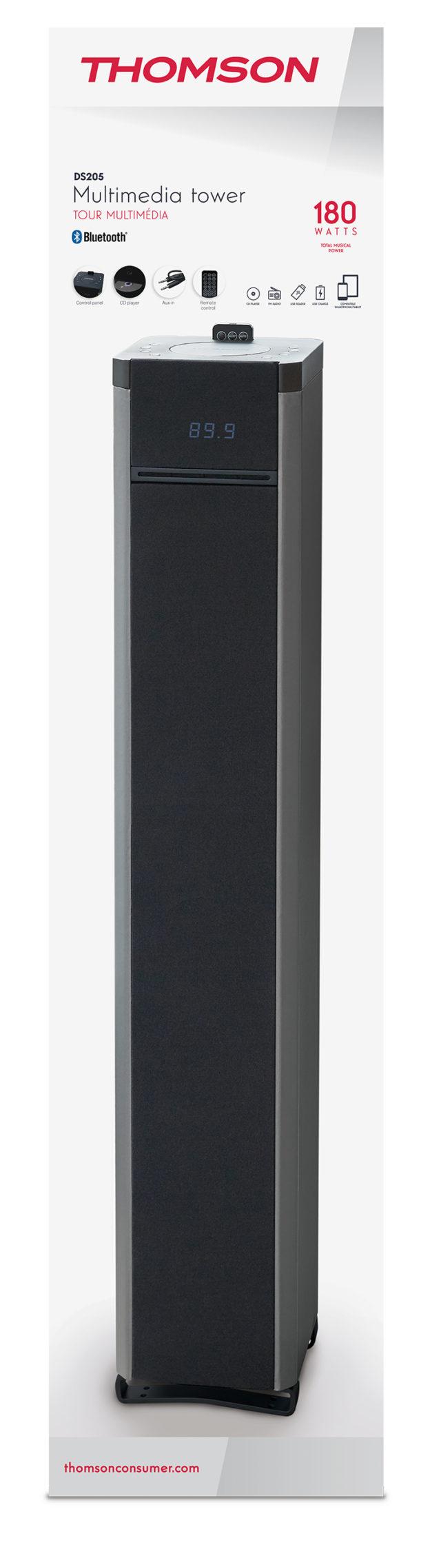 2.1CH multimedia tower (black) – Image  #2tutu#4tutu#6tutu#7