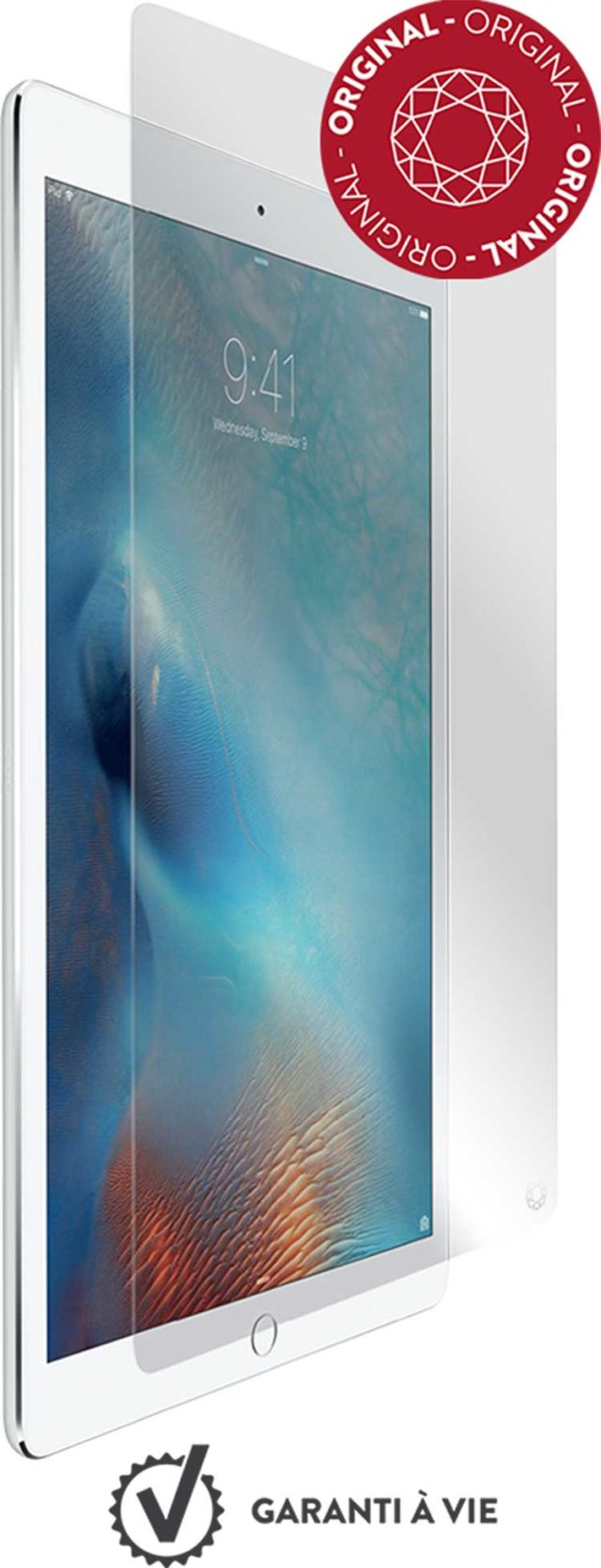 The tempered glass screen protector FORCE GLASS for iPad Pro 9.7 - Packshot