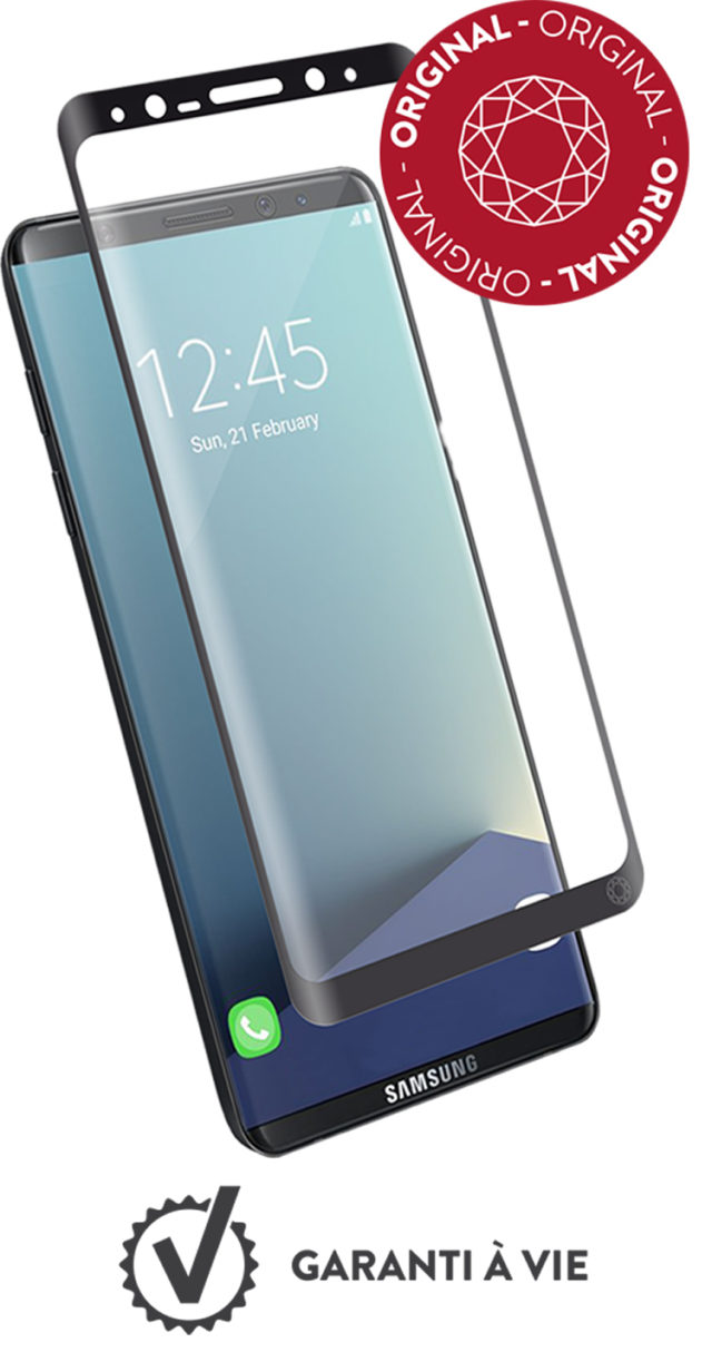 The tempered glass screen protector FORCE GLASS (black contours) - Packshot