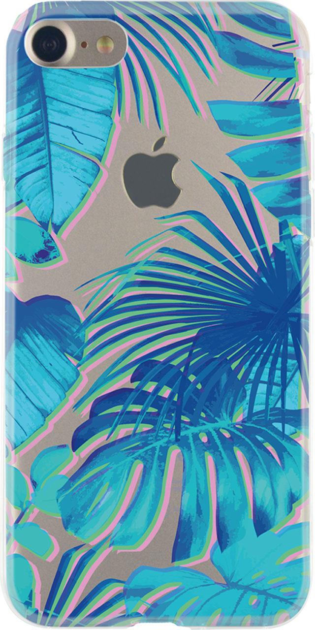 Semi-rigid case (Clear and blue Jungle) - Packshot