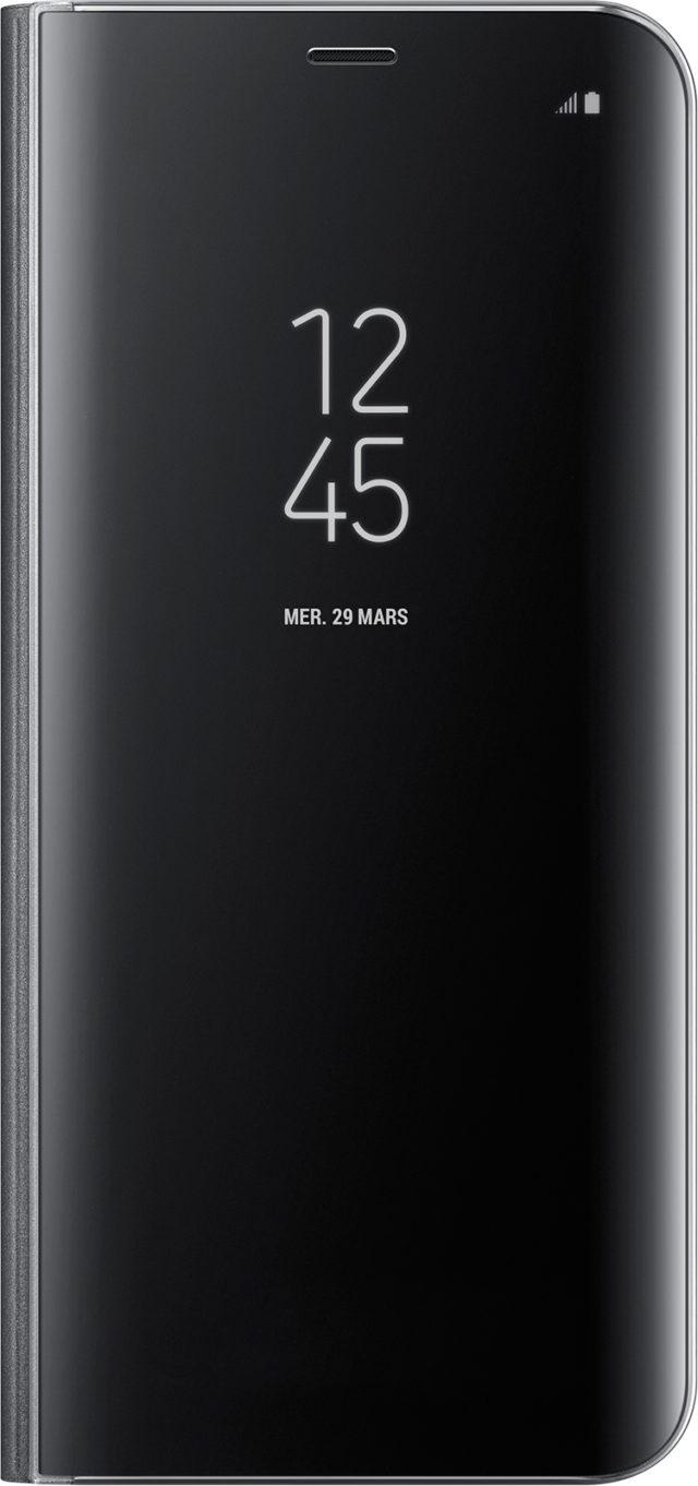 Folio Case Clear View Cover Samsung (black) - Packshot