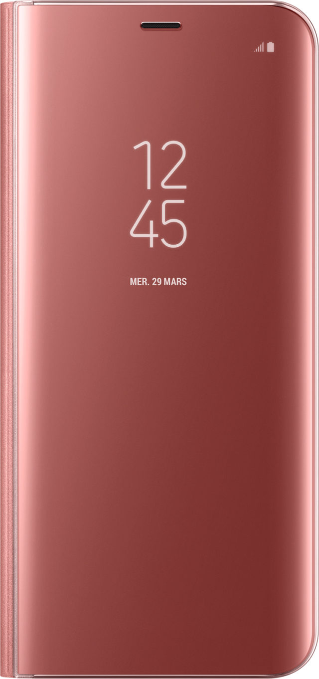 Folio Case Clear View Cover Samsung (pink) - Packshot