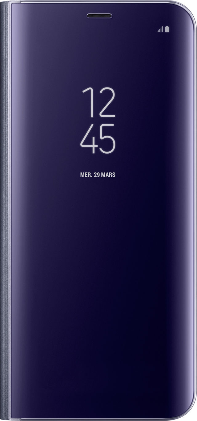 Folio Case Clear View Cover Samsung (purple) - Packshot
