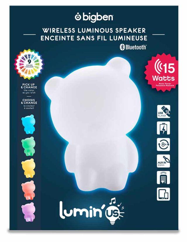 Wireless Luminous speaker Lumin'us (bear) – Image  #2tutu