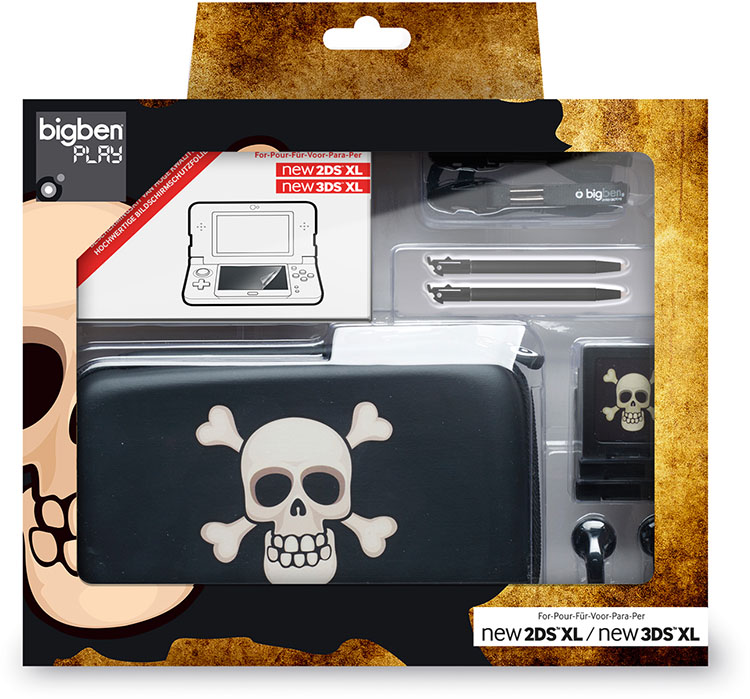 Pack essential limited edition pirate for Housse 2ds bigben
