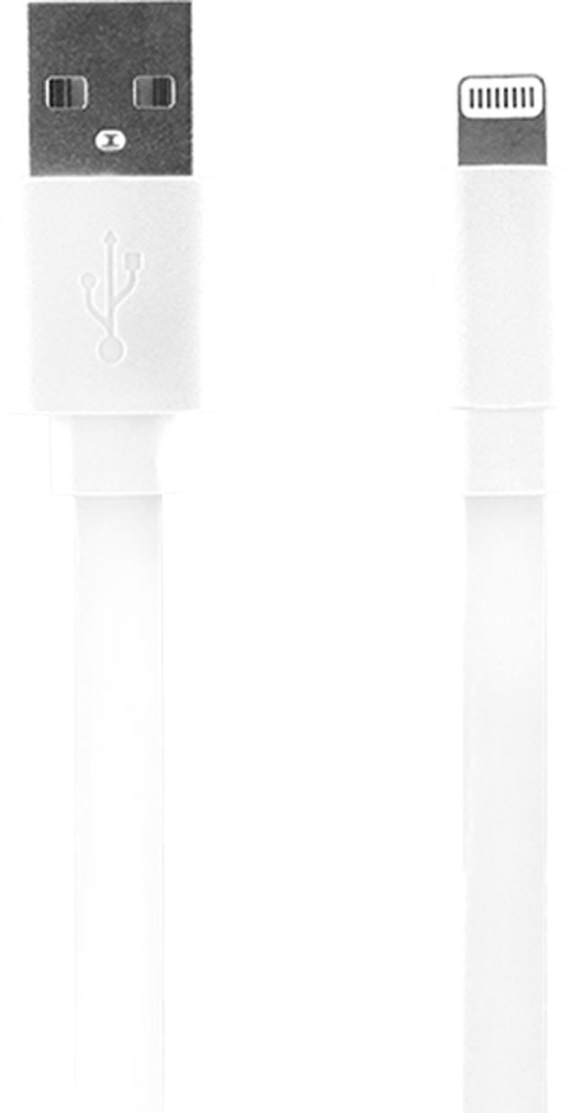 USB/Lightning charge and synchronisation cable (White) - Packshot