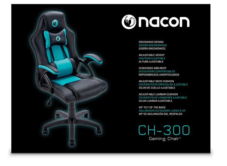 Gaming chair pc ch300 nacon bigben en audio gaming smartphone tablet accessories for Chaise gamer pc