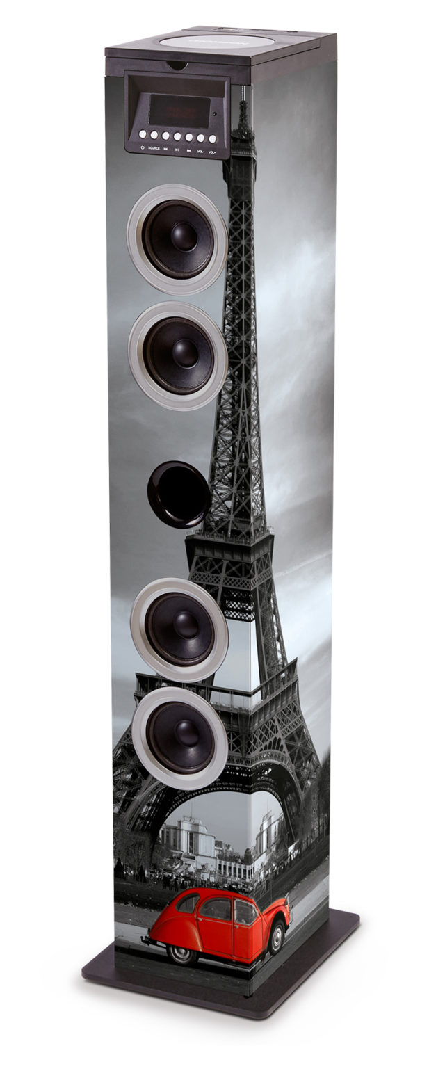 multimedia tower cd player tw12cdgb bigben bigben en audio gaming smartphone tablet. Black Bedroom Furniture Sets. Home Design Ideas
