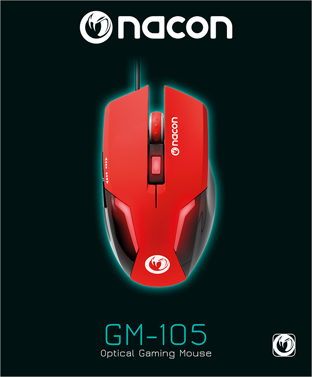 Nacon Optical Mouse (Red) – Image