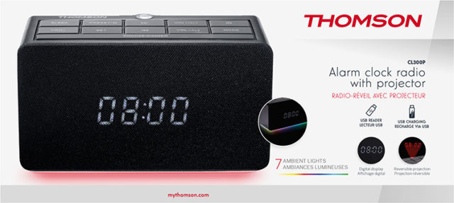Alarm clock radio with projector CL300P THOMSON – Image  #2tutu#4tutu#5