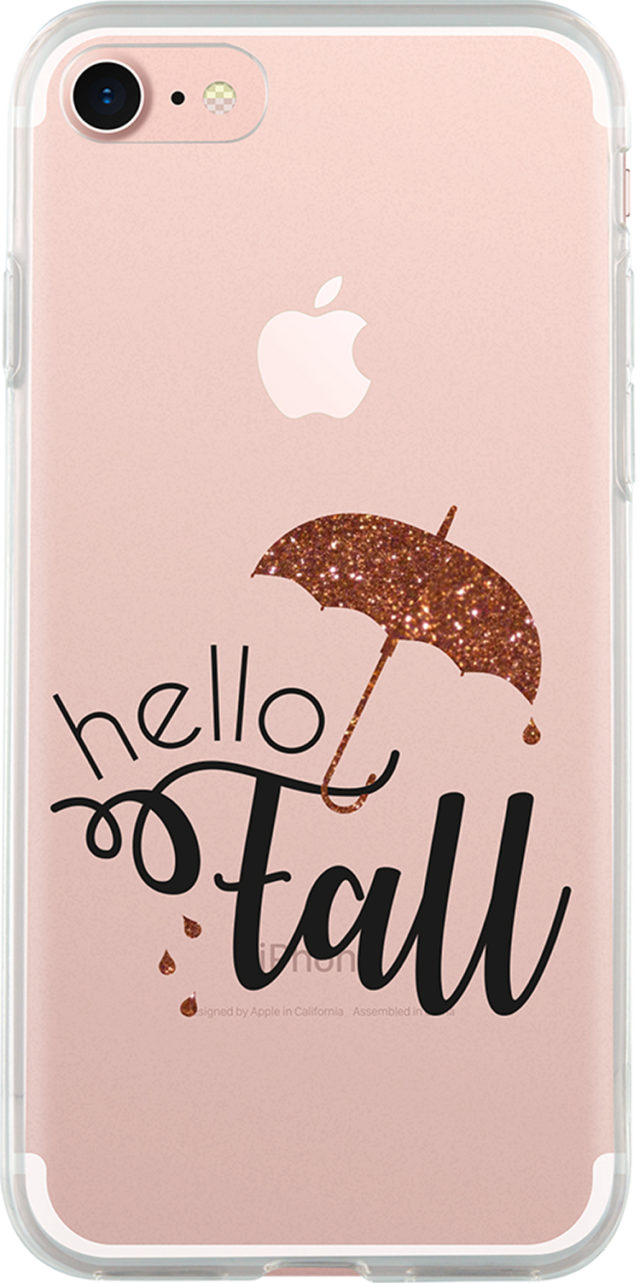 "Semi-rigid case Hello fall"" (clear)"" - Packshot"
