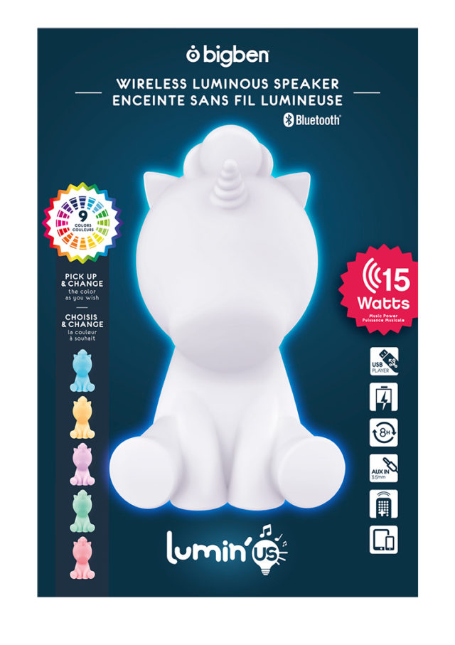 Wireless Luminous speaker Lumin'us (unicorn) BTLSUNICORN BIGBEN – Image  #2tutu#4tutu#6tutu#8tutu#10tutu#12tutu#14tutu