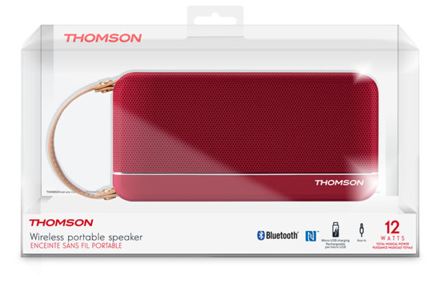 THOMSON Wireless Portable Speaker (red metallic) WS02RM THOMSON – Image  #2tutu#3