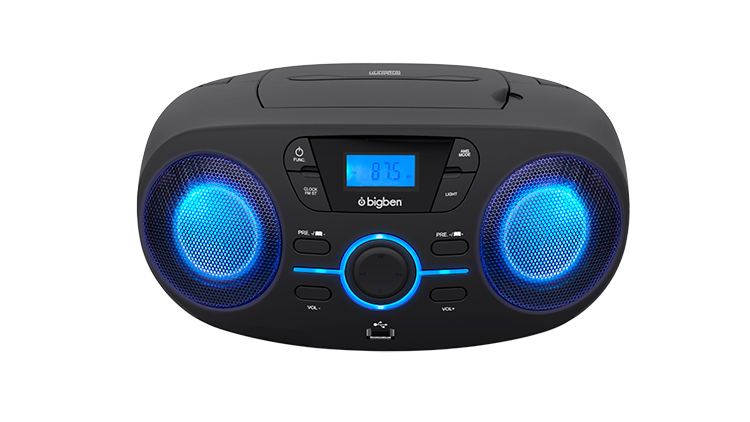 Portable cd usb player with light effects cd61nusb bigben - Mobile porta cd ...