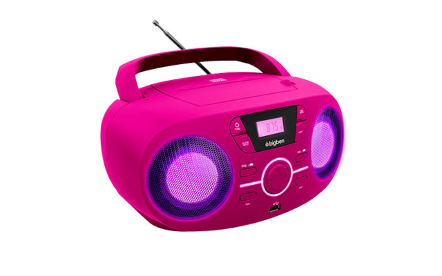 Portable CD/USB player with light effects CD61RUSB BIGBEN – Image