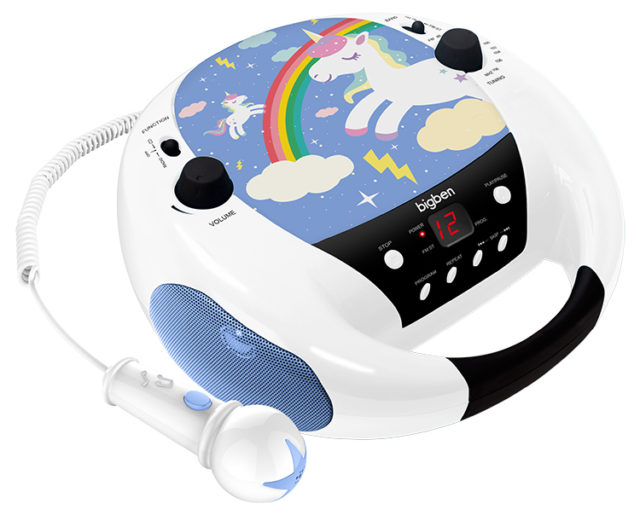 Portable CD player with microphone CD52UNICORNM2 BIGBEN KIDS - Packshot