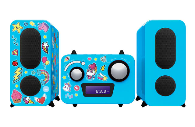 Micro system with CD player MCD11BLUNICORNSTICK BIGBEN KIDS – Packshot