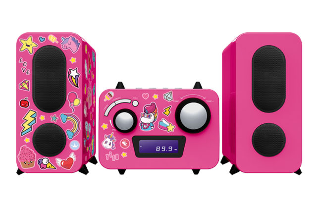 Micro system with CD player MCD11RSUNICORNSTICK BIGBEN KIDS – Packshot