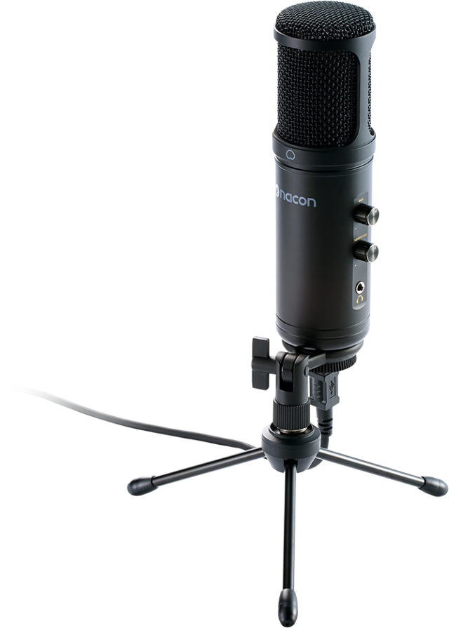 USB microphone for professionnal streaming and other applications – Packshot