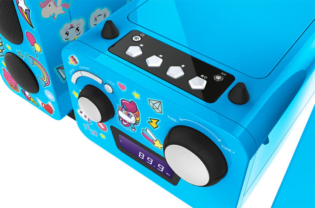 Micro system with CD player MCD11BLUNICORNSTICK BIGBEN KIDS – Image  #2tutu