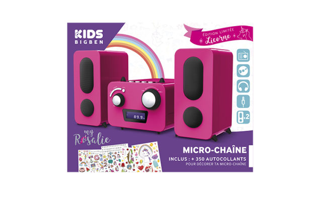 Micro system with CD player MCD11RSUNICORNSTICK BIGBEN KIDS – Image  #2tutu#4tutu#5