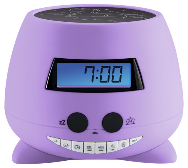 Alarm clock with projector (my Violet) RPEUNICORN BIGBEN KIDS – Image